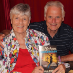 Bill and Anola at book launch.